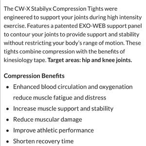CWX Pants - CWX Stabilyx Joint Support Compression Tight